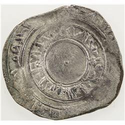 FATIMID: al-'Aziz, 975-996, AR broad dirham (2.54g), Sur, AH(369). F-VF