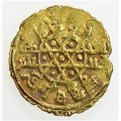 FATIMID: al-Mustansir, 1036-1094, AV 1/4 dinar (1.03g), Siqilliya, AH(4)x5. EF
