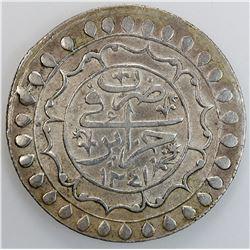 ALGIERS: Mahmud II, 1808-1839, AR 2 budju, Jazayir, AH1241. VF