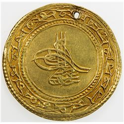 TURKEY: Abdul Hamid I, 1774-1789, AV 1 1/2 altin (4.41g), Islambul, AH1187 year 11. EF