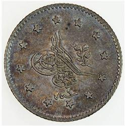 TURKEY: Abdul Mejid, 1839-1861, AR kurush, AH1255 year 9. AU