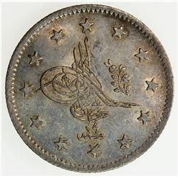 TURKEY: Abdul Mejid, 1839-1861, AR 2 kurush, AH1255 year 14. AU-UNC
