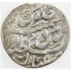 HOTAKI: Ashraf, 1724-1729, AR abbasi (4.33g), Isfahan, AH1140. VF-EF