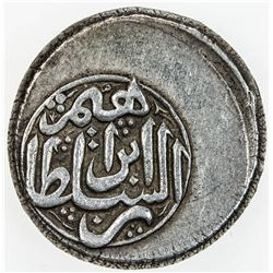 AFSHARID: Ibrahim, after coronation, 1748-1749, AR 6 shahi (7.04g), Astarabad, AH1162. VF