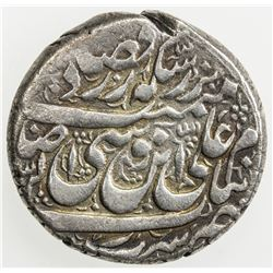 QAJAR: Muhammad Hasan Khan, 1750-1759, AR rupi (11.39g), Rasht, ND. VF-EF