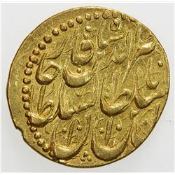 QAJAR: Nasir al-Din Shah, 1848-1896, AV toman (3.44g), Rasht, AH1269. EF