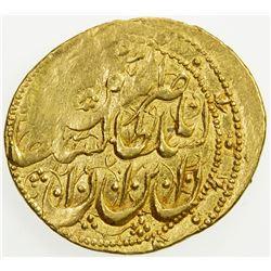 QAJAR: Nasir al-Din Shah, 1848-1896, AV toman (3.44g), Rasht, AH1271. VF