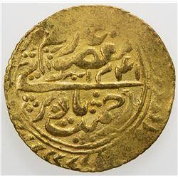 MANGHIT OF BUKHARA: Haidar, 1800-1826, AV tilla (4.49g), Bukhara-yi sharif, AH1241, VF