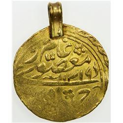 MANGHIT OF BUKHARA: 'Abd al-Ahad, 1886-1910, AV tilla (4.98g), Bukhara-yi sharif, AH1319//AH1319. VF
