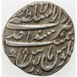 DURRANI: Taimur Shah, as Nizam, 1757-1772, AR rupee (11.38g), Lahore, AH1170 year one (ahad). EF