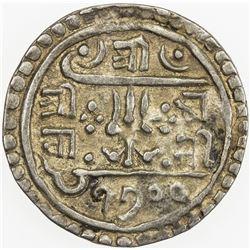NEPAL: Rana Bahadur, 1777-1799, AR 1/4 mohar (1.32g), SE1700 (1778). EF-AU