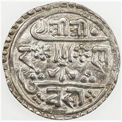 NEPAL: Rana Bahadur, 1777-1799, AR 1/2 mohar (2.69g), SE1712 (1790). EF