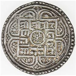 NEPAL: Rana Bahadur, 1777-1799, AR 2 mohars (10.99g), SE1712 (1790). EF