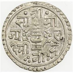 NEPAL: Rajendra Vikrama, 1816-1847, AR 1/4 mohar (1.36g), SE1759 (1837). AU