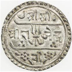 NEPAL: Rajendra Vikrama, 1816-1847, AR 1/2 mohar (2.74g), SE1738 (1816). EF