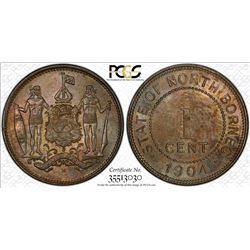 NORTH BORNEO: British Protectorate, 1 cent, 1904-H. PCGS MS63