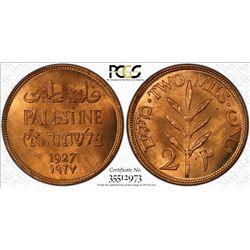 PALESTINE: British Mandate, AE 2 mils, 1927. PCGS MS65