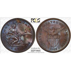 PHILIPPINES: AE centavo, 1928-M. PCGS MS64