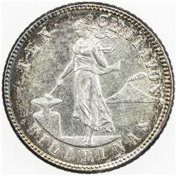 PHILIPPINES: AR 10 centavos, 1904-S. UNC