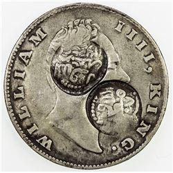 YEMEN: QA'ITI: AR rupee, AH1307. VF
