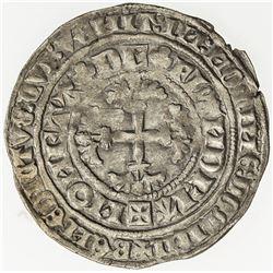 BELGIUM: FLANDERS: Louis II de Male, 1346-1384, AR botdrager (3.94g), ND (c1365). EF