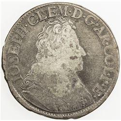 BELGIUM: LIEGE: Joseph Clement of Bavaria, 1694-1723, AR patagon, 1698. G-VG