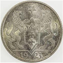 DANZIG: AR gulden, 1923. UNC