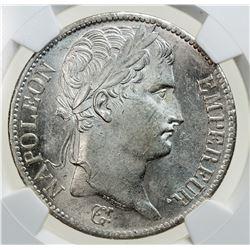 FRANCE: Napeolon I, Emperor, 1804-1815, AR 5 francs, 1811-A