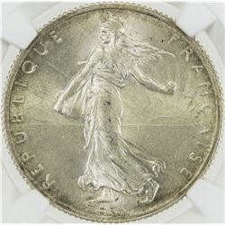 FRANCE: Third Republic, AR 2 francs, 1914-C. NGC MS63
