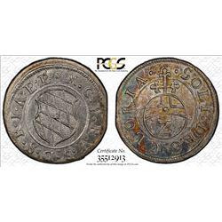 BAVARIA: Maximilian I, 1623-1651, AR 2 kreuzer, ND (1623-37). PCGS MS64