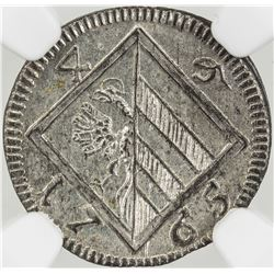 NUREMBERG: BI 4 pfennig (0.8g), 1765. NGC MS64