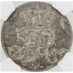 PRUSSIA: Frederick II (the Great), 1740-1786, AR 1/24 thaler, 1756-A. NGC MS63