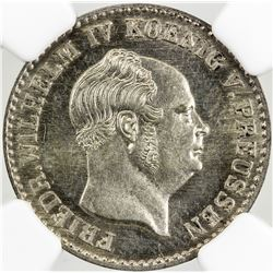 PRUSSIA: Wilhelm I, 1861-1888, AR 2 1/2 silbergroschen, 1856-A