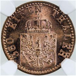 PRUSSIA: Wilhelm II, 1888-1918, AE pfennig, 1871-A