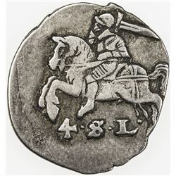 SCHLESWIG-HOLSTEIN-GOTTORP: Friedrich III, 1616-1659, AR 4 schilling lubsch (2.04g), ND (ca. 1655).