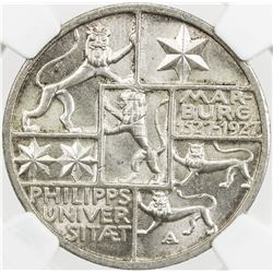 GERMANY: Weimar Republic, AR 3 mark, 1927-A. NGC MS65