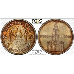 GERMANY: Third Reich, AR 2 mark, 1934-E, PCGS MS64+