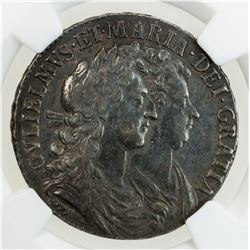 ENGLAND: William & Mary, 1689-1702, AR halfcrown, 1689