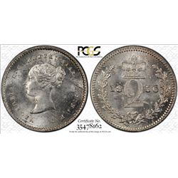 GREAT BRITAIN: Victoria, 1837-1901, AR 2 pence, 1856, PCGS PL64