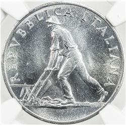 ITALY: Republic, 2 lire, 1950-R