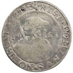NETHERLANDS: FRIESLAND: AR 14 stuivers ( 1/2 florin), (9.31g), 1601. VG