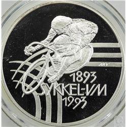 NORWAY: Harald V, 1991-, AR 100 kroner, 1993. CCCS PF68