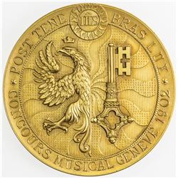 SWITZERLAND: GENEVA: AR medal (41.84g), 1902. UNC