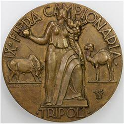 LIBYA: AE medal (44.73g), 1935. AU