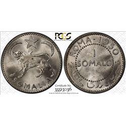 SOMALIA: AR somalo, 1950. PCGS MS64
