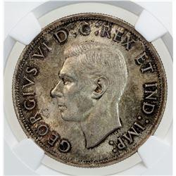 CANADA: George VI, 1936-1952, AR dollar, 1938
