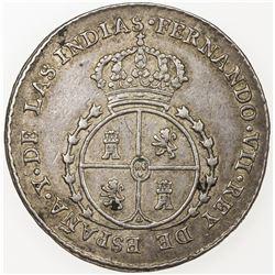 EL SALVADOR: Fernando VII, 1808-1833, AR proclamation 2 reales (6.63g), 1808. VF