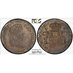 GUATEMALA: Fernando VII, 1808-1821, AR 1/2 real, 1813-NG. PCGS MS62