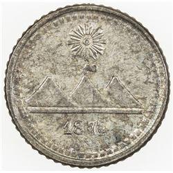 GUATEMALA: Republic, AR 1/4 real, 1873/2. UNC