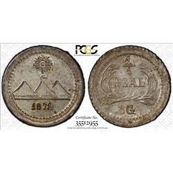 GUATEMALA: Republic, AR 1/4 real, 1878. PCGS MS65